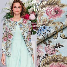 2016 new autumn and winter the french big import jacquard tapestry satin fabric coat suits bright cloth tissu au meter fashion