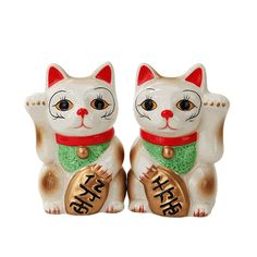 Maneki Neko Cat Salt and Pepper Shakers