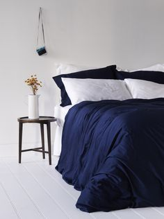 Bamboo Bondi Duvet Cover Set - Blue Nights 100% organic bamboo bedding