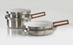 knIndustrie WhitePot range for the kitchen designed by Italian Rodolfo Dordoni