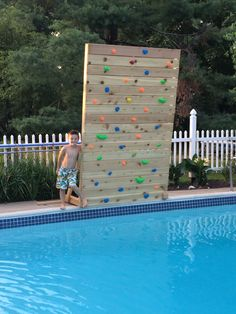 Rocking Climbing Wall In Pool One Day My House Will Look Like This Pinterest Rock