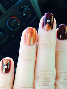 Thanksgiving nails . Thanks Brenda !