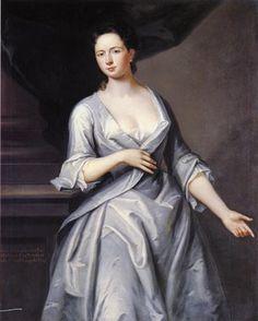 1700's Women's Fashion.  Colonial America 1727.