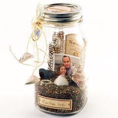 Top 21 DIY Memory Jar Ideas to Keep The Best Memories – HomeDesignInspired – En Güncel Araba Resimleri Mason Jar Crafts, Bottle Crafts, Diy Bottle, Easy Homemade Gifts, Vacation Memories, Summer Memories, Navidad Diy, Gifts Under 10, Seashell Crafts