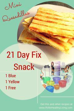 21 Day Fix Snack - mini quesadillas