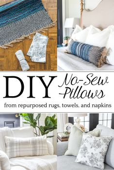342bb4aeee8 3 items you can repurpose into DIY no-sew throw pillows