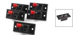 5 Unids 2 Posiciones Empuje en Jack de Carga del Muelle de Audio Terminales de Altavoces de Regalo