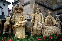 Betlém a mše u svatého Víta na Hradě Straw Bag
