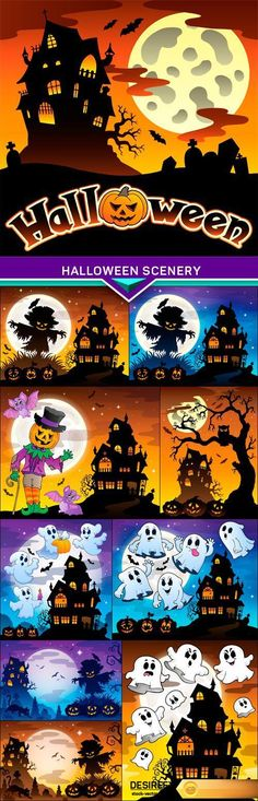 Find your Grapfix Desire With US http://www.desirefx.me/halloween-scenery-vector-illustration-10x-eps/