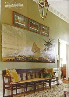 Amelia Handegan Sullivan's Island | An entry hall and stairs in a Kiawah Island, South Carolina home show ...