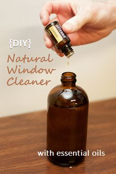 Make your own chemical-free window cleaner with essential oils! http://doterrablog.com/diy-make-your-own-natural-window-cleaner