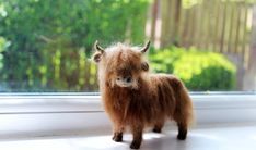 https://flic.kr/p/s6jHGr | Highland Cow | needle felted by feltedfido