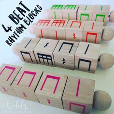 Kodaly Inspired Classroom: Monday Music Manipulatives - 4 Beat Rhythm Blocks