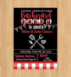 Digital File|Printed|babyshower invitation|babyq | baby q |babyshower invite|new baby|baby sprinkle|picnic baby shower by SisterlydesignsShop on Etsy