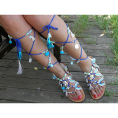 SUMMER BREEZE Lace up Greek gladiator handmade leather sandals... (€195) ❤ liked on Polyvore featuring shoes, sandals, lace-up sandals, leather lace up shoes, summer sandals, rhinestone shoes and lace up shoes