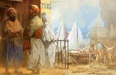 Barakulla feekum Imam Ahmad, Painting, Art, Figurine, Art Background, Painting Art, Kunst, Paintings, Performing Arts