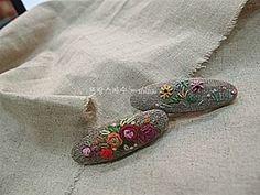 #Embroidery#stitch#needlework#a hairpin  #프랑스자수#일산프랑스자수#자수#자수타그램#자수소품#자수헤어핀 #이쁜이들~~