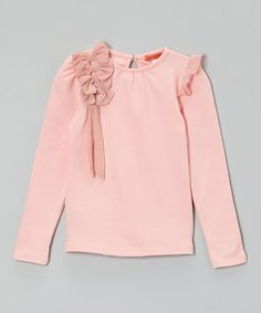 Take a look at this Pink Ruffle Bow Tee - Toddler & Girls by Funkyberry on #zulily today!