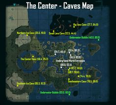 ARK: Survival Evolved The Center Caves Map (PC, Xbox One)
