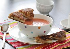 Cheese kabobs and tomato soup - LOVE!