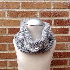 Cuello reversible lana gris/pasley de didala2015 en Etsy