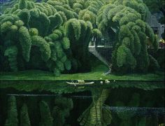 Bottle Brush Trees by Jian Chong Min