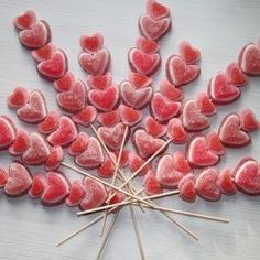 Brochette de bonbons coeur