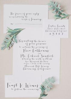 Styled Stationary | Wedding Invitations | Calligraphy Wedding Invitations |