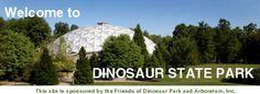 Dinosaur State Park - Rocky Hill, Connecticut = Jurassic fossil tracks, exhibit center, nature trails, arboretum, picnic, track casting, geocaching, mining for gems & fossils, bookshop, picnic pavilion