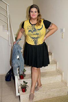 ChicaBolacha OOTD  #plussize #fatshion #modaplussize #modaplus #lookdodia  www.grandesmulheres.com.br