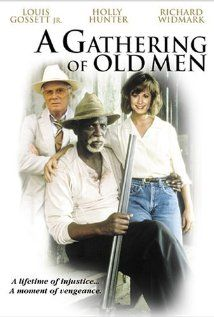 A Gathering of Old Men (1987). A regular day in a Louisiana sugarcane plantation changes course when a local white farmer is shot in self defense. A group of old, black men takes a courageous step by coming forward en masse to take responsibility for the killing of a white racist, whom one of their members has shot. As the sheriff confronts the suspects, the young plantation owner stands alone in her daring defense of this group of men, provoking racial tension that makes a compelling drama.