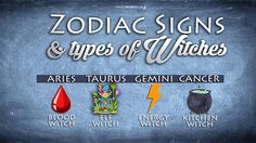Magical Recipies Online | Zodiac Signs and Types of Witches