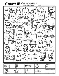 A Fun Halloween Freebie: Count It! This download is a great way to practice counting pictures in a scatter array. The counting boxes at the bottom also add the visual structure our students with autism often need to be successful and independent. Download at: http://mrsgilchristsclass.blogspot.com/2014/10/last-day-to-save-on-halloween.html