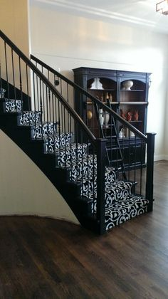 Beautiful Kane Carpet runner on curved stairs