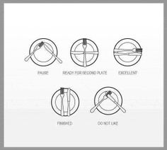 How to communicate with cutlery