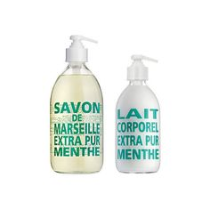 Pur Soap + Lotion Set Mint Tea Personal Care Sets (49 SGD) ❤ liked on Polyvore featuring beauty products, bath & body products, body cleansers, teal and la compagnie de provence