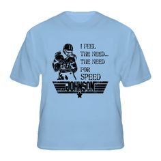 Chris Johnson Tennessee Need For Speed Top Gun Quote Football T Shirt