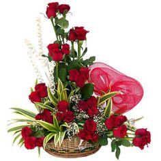 Valentines Wallpapers: Valentine Flower Basket Wallpapers