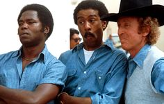 "STIR CRAZY (1980)  Harry Monroe: ""A hundred and twenty five years... Oh God, Oh God... I'll be a hundred and sixty one when I get out.""      The incendiary comedy chemistry between Richard Pryor and Gene Wilder - the dynamite pairing in Silver Streak - is harnessed for this splendid jail caper which sees them wrongly arrested for a bank robbery and sentenced to 120 years in the slammer.    With no alibi, it looks like there's no way out..."