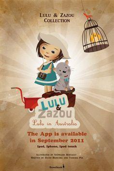 illustrateur jeunesse – affiche Lulu et Zazou