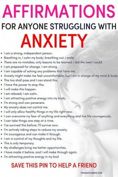 Affirmations for anxiety to help you calm down quickly. Affirmations for anxiety to help you calm down quickly. Affirmations for people struggling with anxiety. How to stop worrying. How to worry less. Stress and anxiety Deal With Anxiety, Anxiety Tips, Anxiety Help, Anxiety Relief Quotes, How To Overcome Anxiety, Inhale Exhale, Mental Health, Wise Words, Think Positive