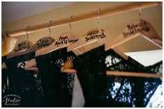 Personalised clothing hangers for bridesmaids | Wedding photography by www.colinmurdochstudio.com Our Wedding Day, Wedding Ideas, Wine Drinks, Wedding Bridesmaids, Hangers, Wedding Photography, Clothing, Outfit, Coat Hanger