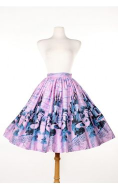 Pinup Couture - Jenny Skirt in Pink Castle Print | Pinup Girl Clothing