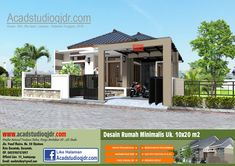 Desain Rumah Tropis Minimalis di Lahan 10x20 meter - Jasa Desain Rumah My Dream Home, House Plans, Sweet Home, Backyard, Exterior, House Design, Mansions, Architecture, House Styles