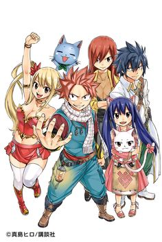 Fairy Tail Team Natsu official drawing