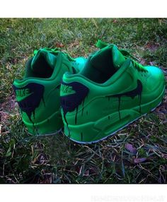 more photos 15d10 4fe2b Nike Air Max 90 Custom Candy Melt Dark Green Womens   Mens Trainers was Now  save up to off.