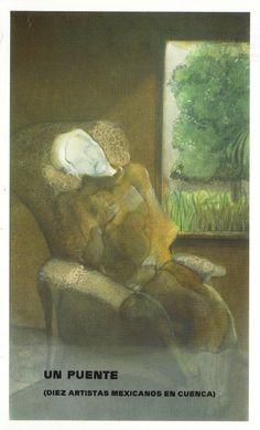 """""""Un puente (diez artistas mexicanos en Cuenca)"""" exposición en la Caja de Ahorros de Cuenca y Ciudad Real Mayo 1987 #CajaAhorrosCuenca #Cuenca"""