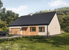 Murator C365j Przejrzysty - wariant X - zdjęcie 3 Small Modern House Plans, My House Plans, Facade House, Home Fashion, Bungalow, Shed, Farmhouse, Cottage, Outdoor Structures