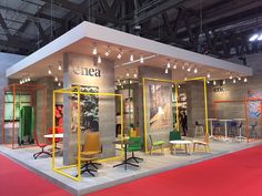 Enea Design's booth at Salone del Mobile de Milano. Hall 10 booth E14. April 14th-19th 2015.
