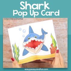 Printable Template Shark Pop Up Card